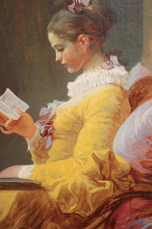Detail from  A Young Girl Reading.   Jean-Honore Fragonard.  1776.