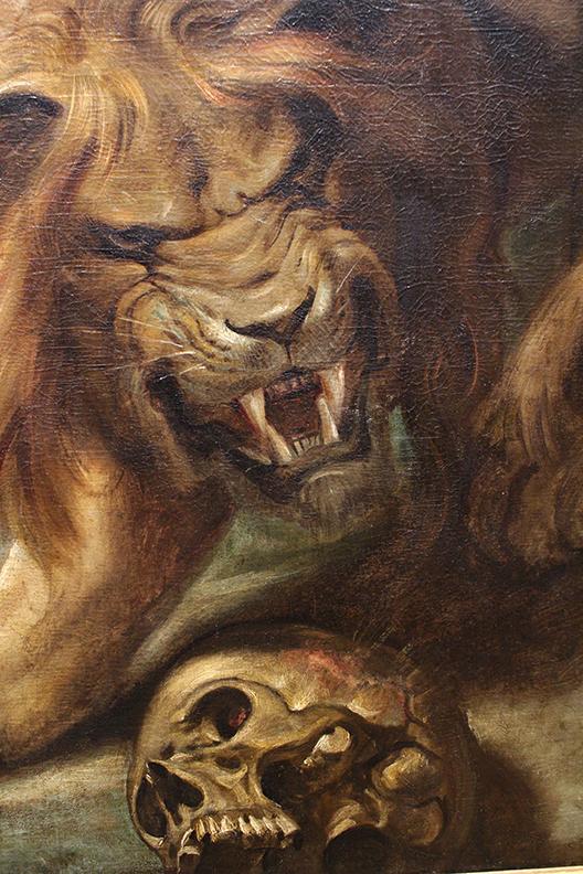 Detail from Daniel in the Lion's Den.  Peter Paul Rubens. 1614 / 1616.