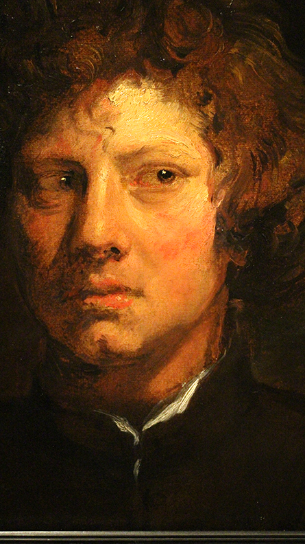 Detail from  Head of a Young Man.   Anthony Van Dyck.  1617 / 1618.