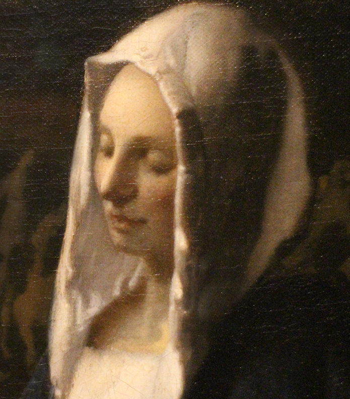 Detail from Woman Holding a Balance.  Vermeer. 1664.