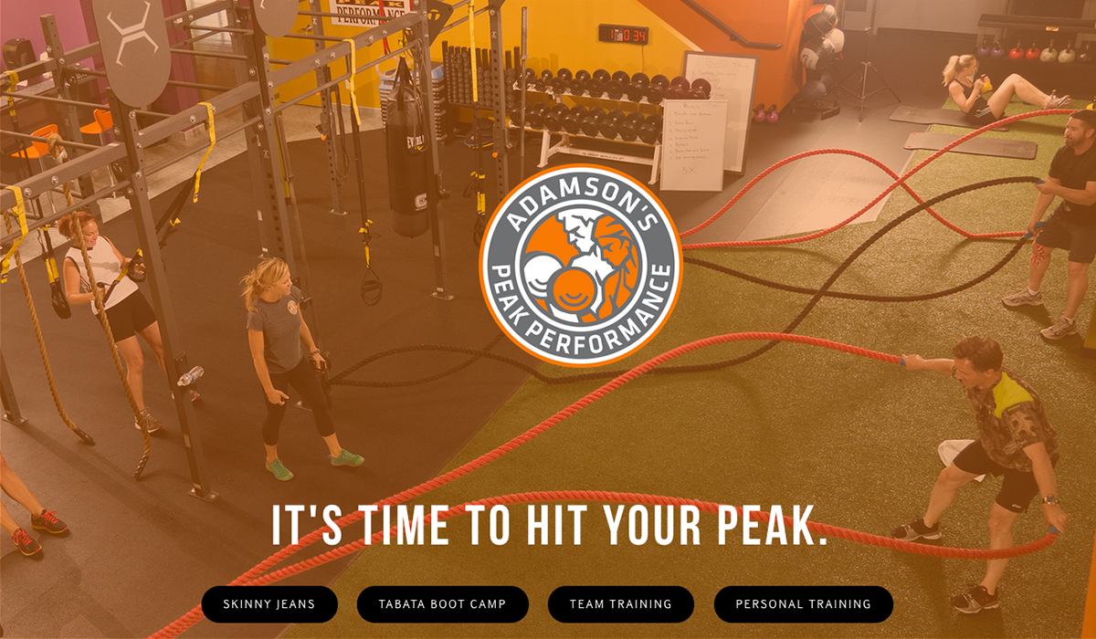 Adamson's Peak Performance, Sports & Fitness Web Design