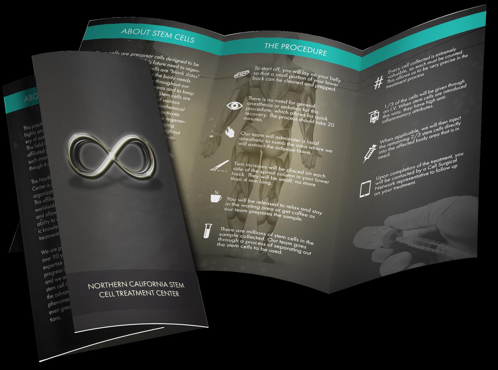 Printed business brochure