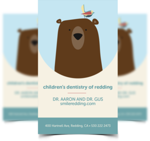 children's dentistry of redding business cards