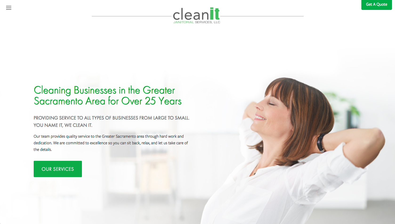 CleanIt Janitorial Services Website
