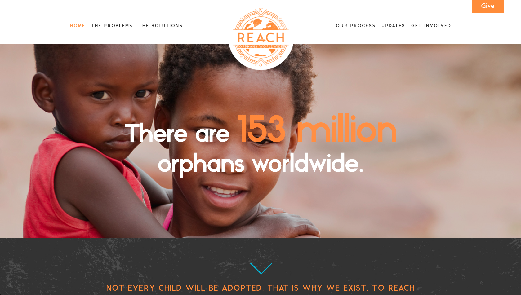 Reach Orphans Worldwide Non-profit website example