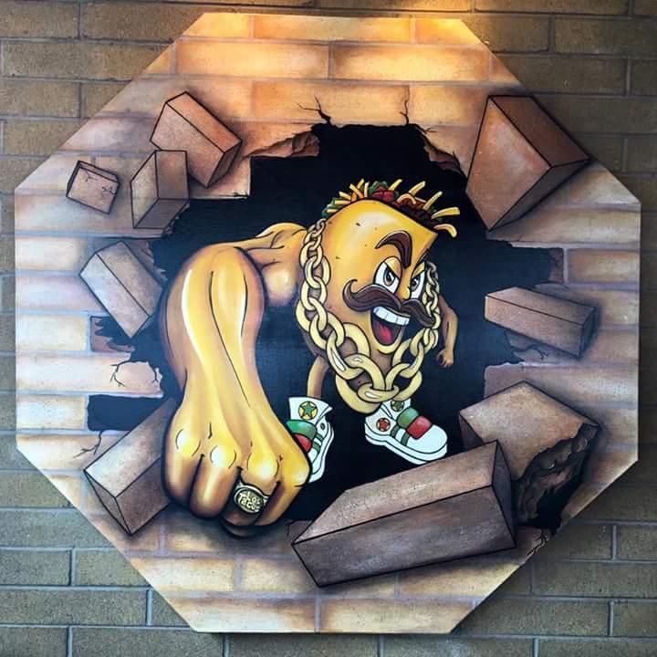 Los Tacos Canvas Mural