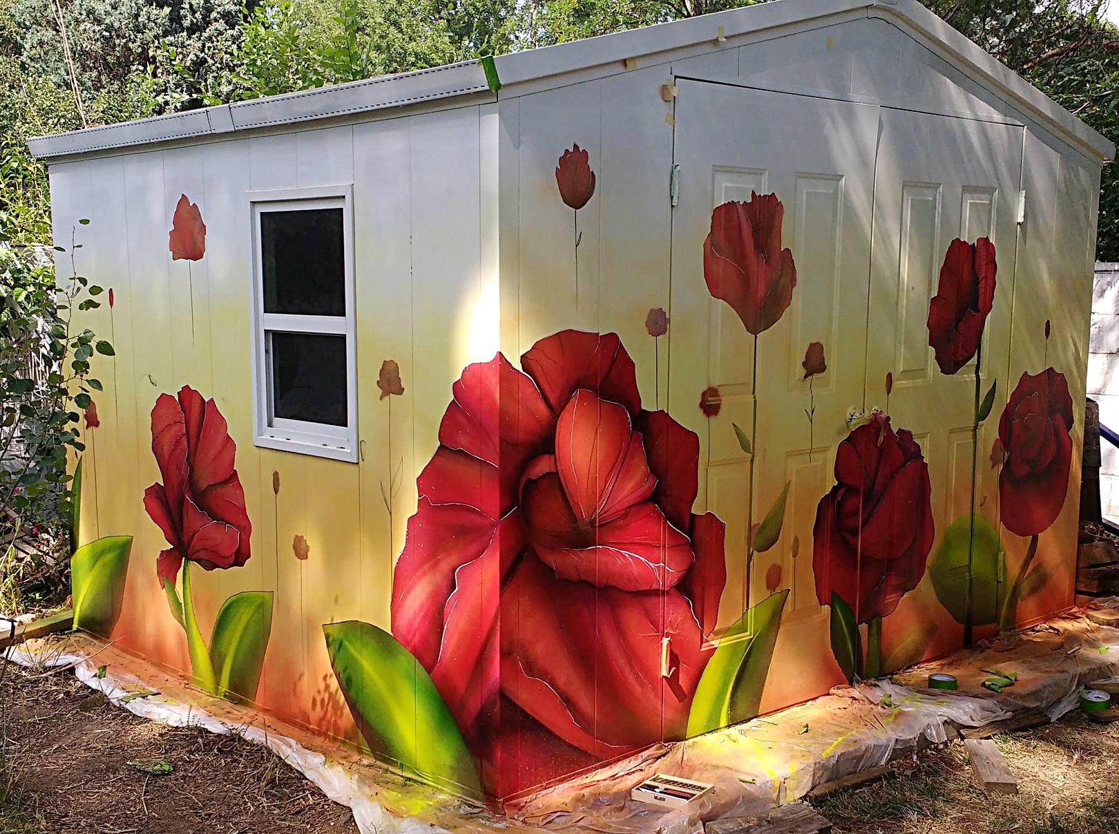 Poppy Garden shed mural.jpg