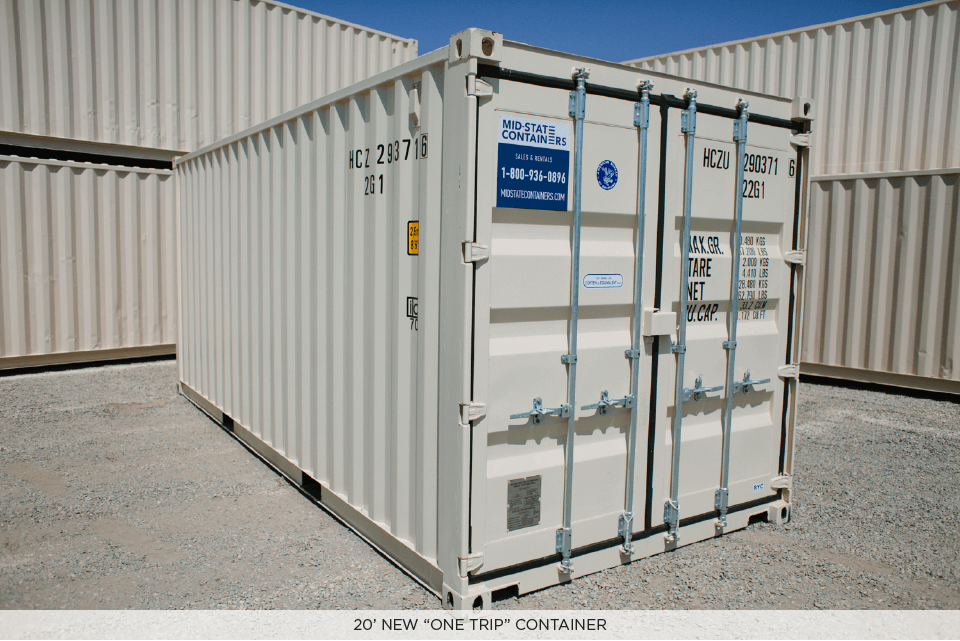 new 20' one trip storage container