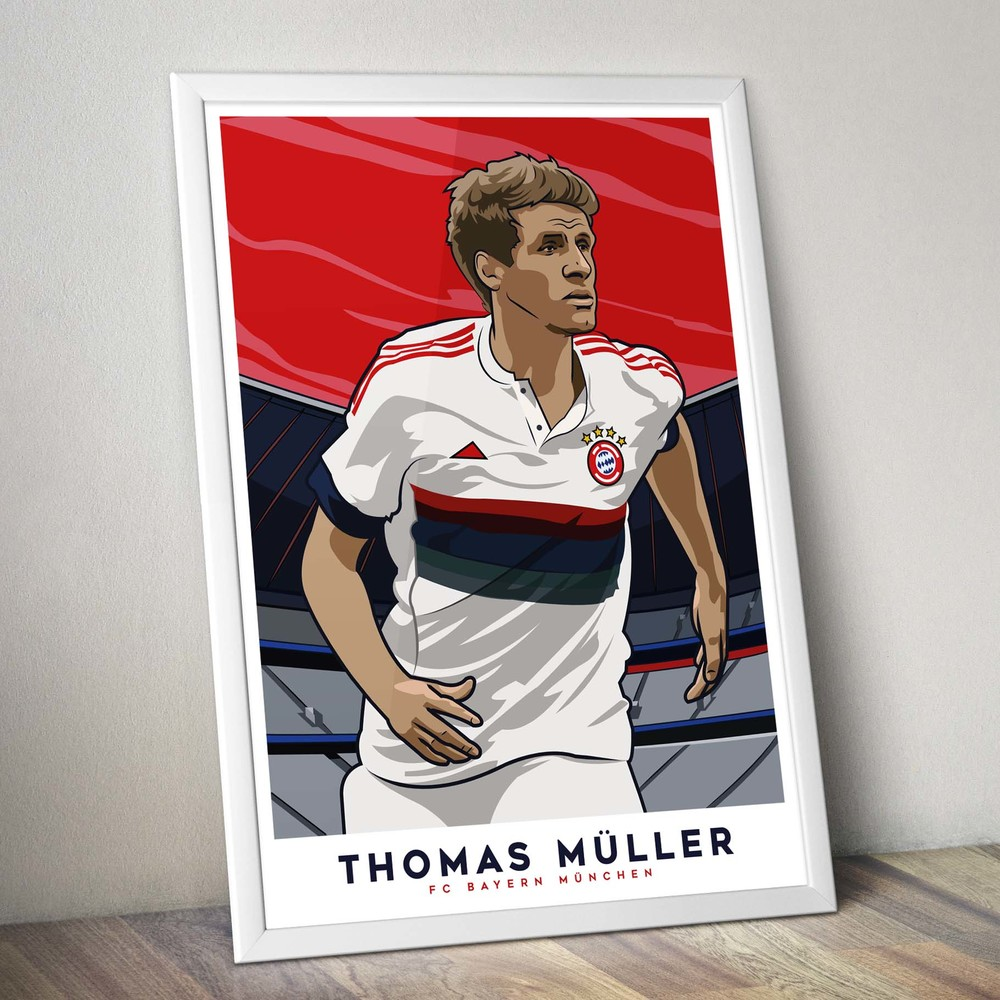 Thomas Muller - FC Bayern Munich Poster Art — Kieran Carroll Design