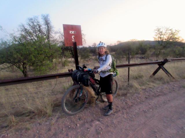 Holly at the Mexico border