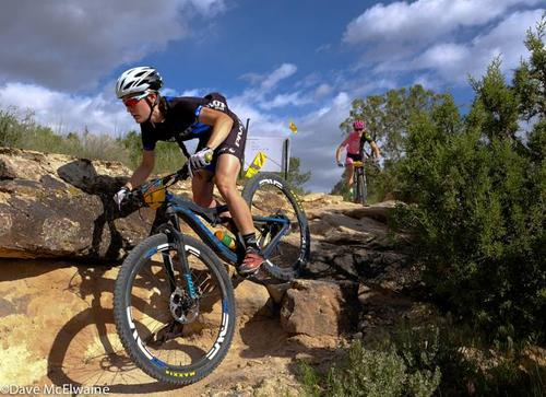 Following a 2+ mile rollout on pavement and an extended climb up the Tabeguache trail, the race drops into part of Gunny Loop. The Off-Road is technical and challenging, and that's what makes it such a unique race. Image: Dave McElwaine.