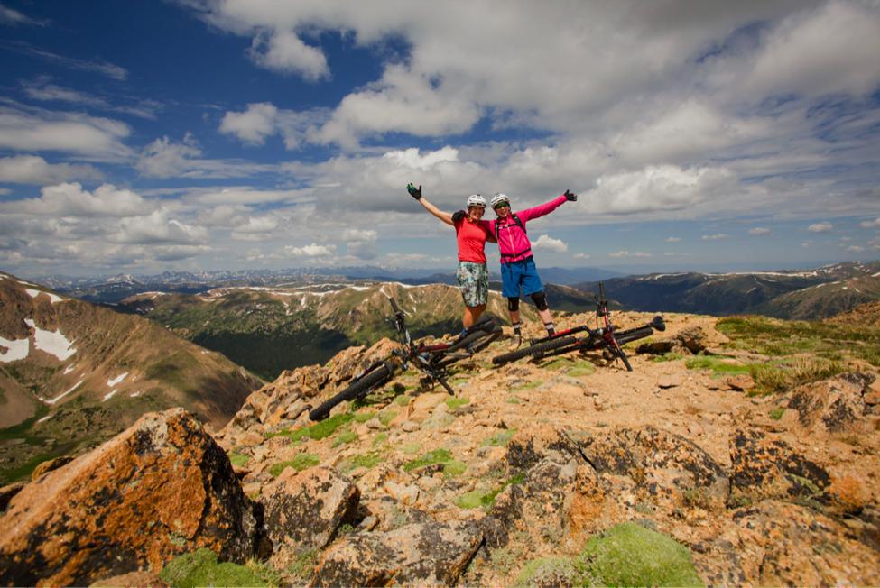 Photo Credit: Lisa Seaman Photography. Lisa and I celebrating at the summit!
