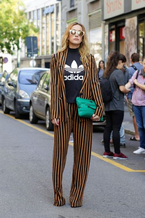 """Image Via  Pinterest   10. Another fun example of casual chic. Love it. Don't be afraid to mix """"unusual pairs"""" together. They usually end up making the best outfits."""