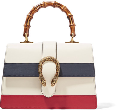 GUCCI - DIONYSUS BAMBOO MEDIUM LEATHER TOTE - IVORY