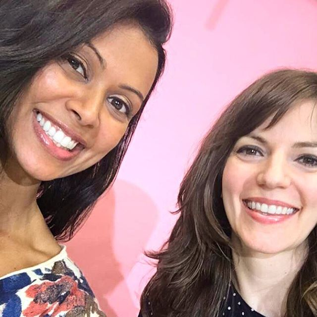 All smiles behind the scenes with the lovely @chr1styharrison for my first wellness show at @refinery29!  We talked healthy hacks when on the go - just in time for Memorial Day Weekend! Mantra: Plan ahead to feel your best 🙌🏽 #wellness #facebooklive #refinery29 #r29 #behindthescenes #healthyhacks #healthytips #prep #travel #everytuesday #watch