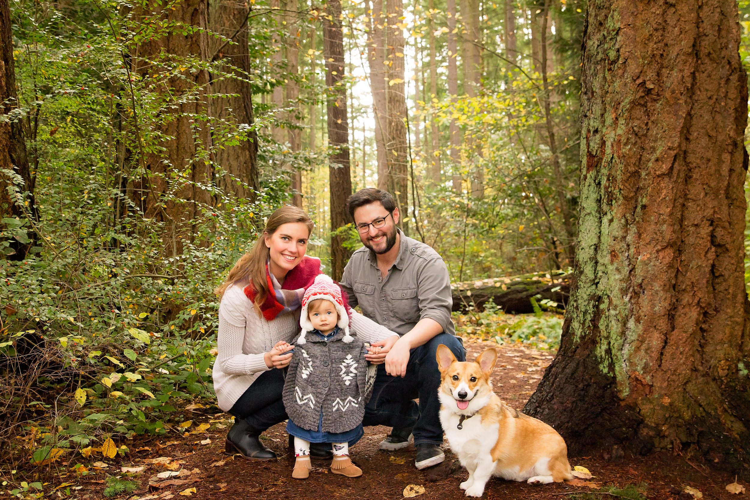 I think you'll agree this forest family shot is just adorable and one of my favorites from the session
