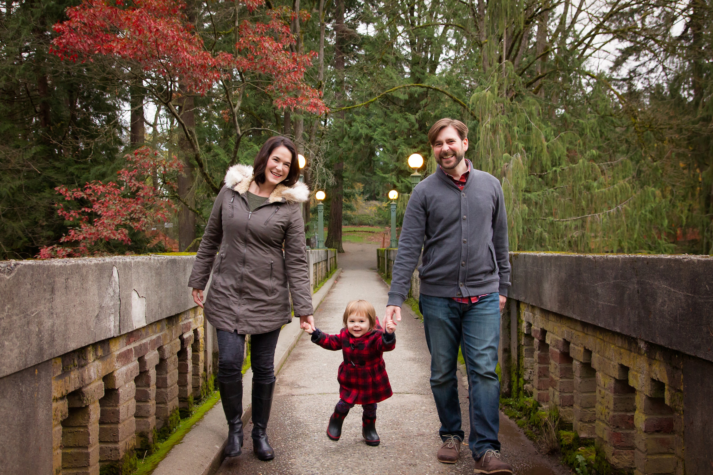 I just love this moss covered bridge for the perfect family backdrop