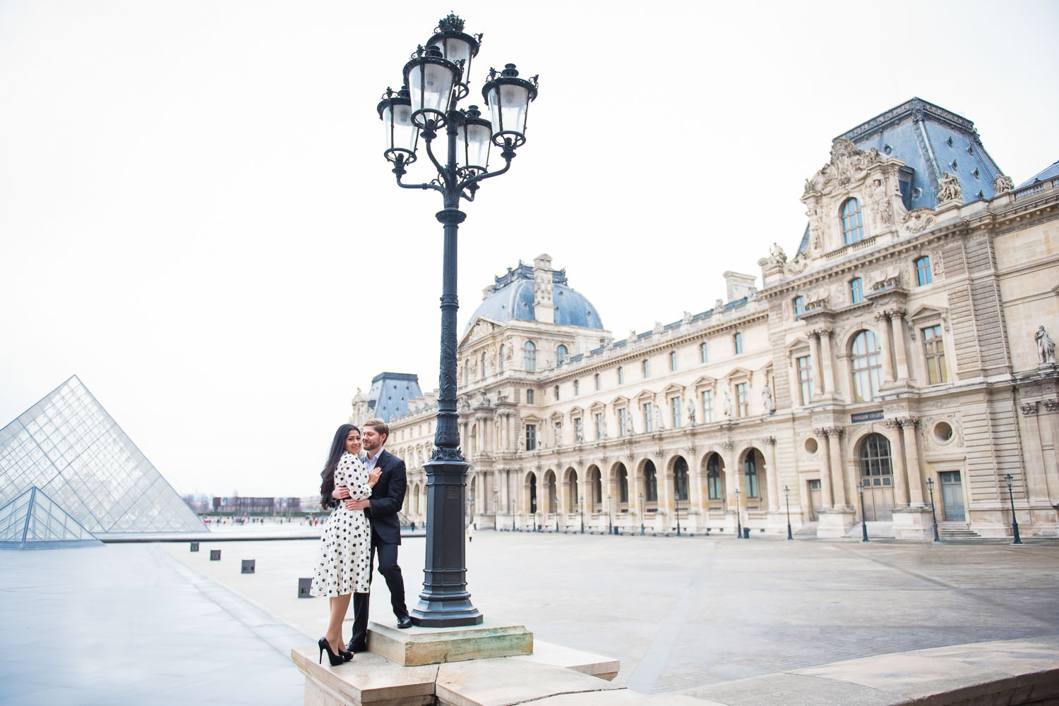 Copy of Copy of Paris photographer for engagement photo session at the Louvre
