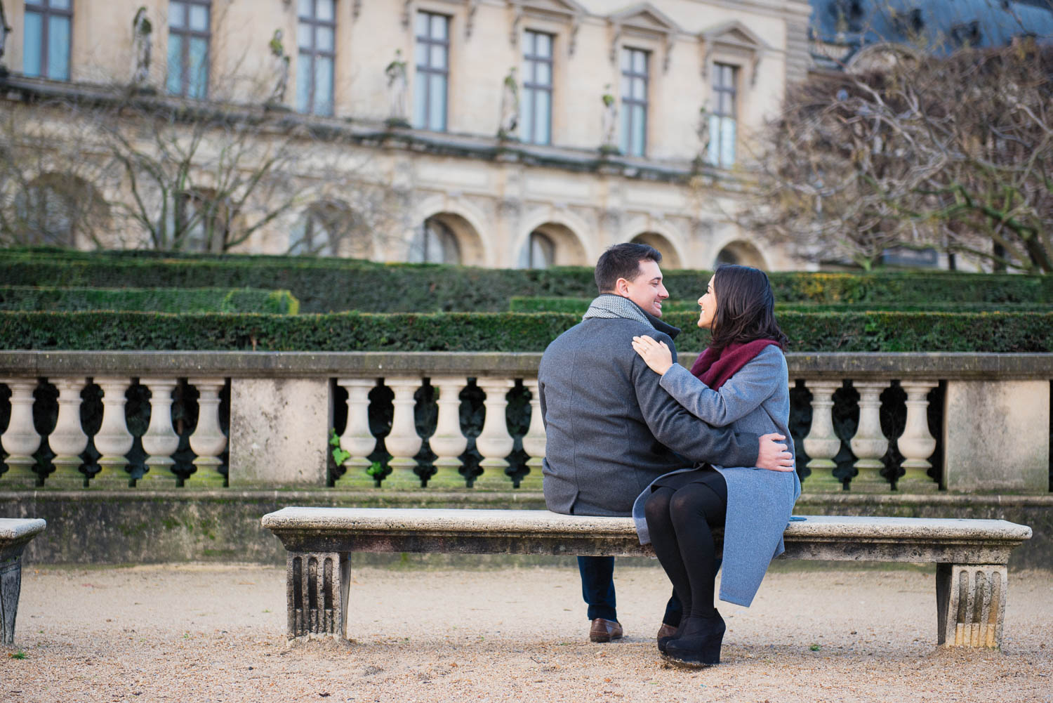 Copy of Copy of Paris engagement photo session at the Louvre