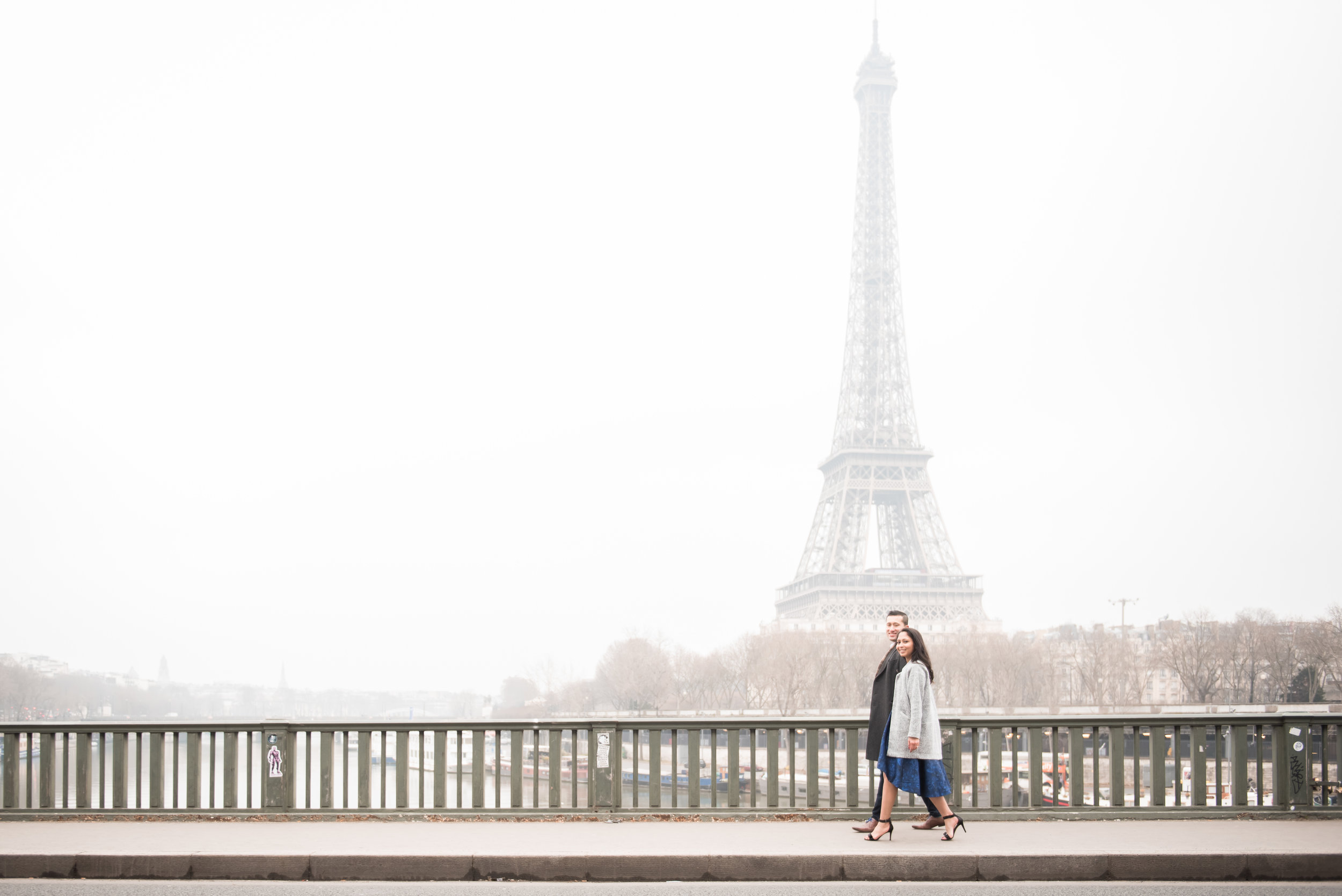 Copy of Copy of Couples engagement photoshoot at Eiffel Tower & Jardin Du Palais
