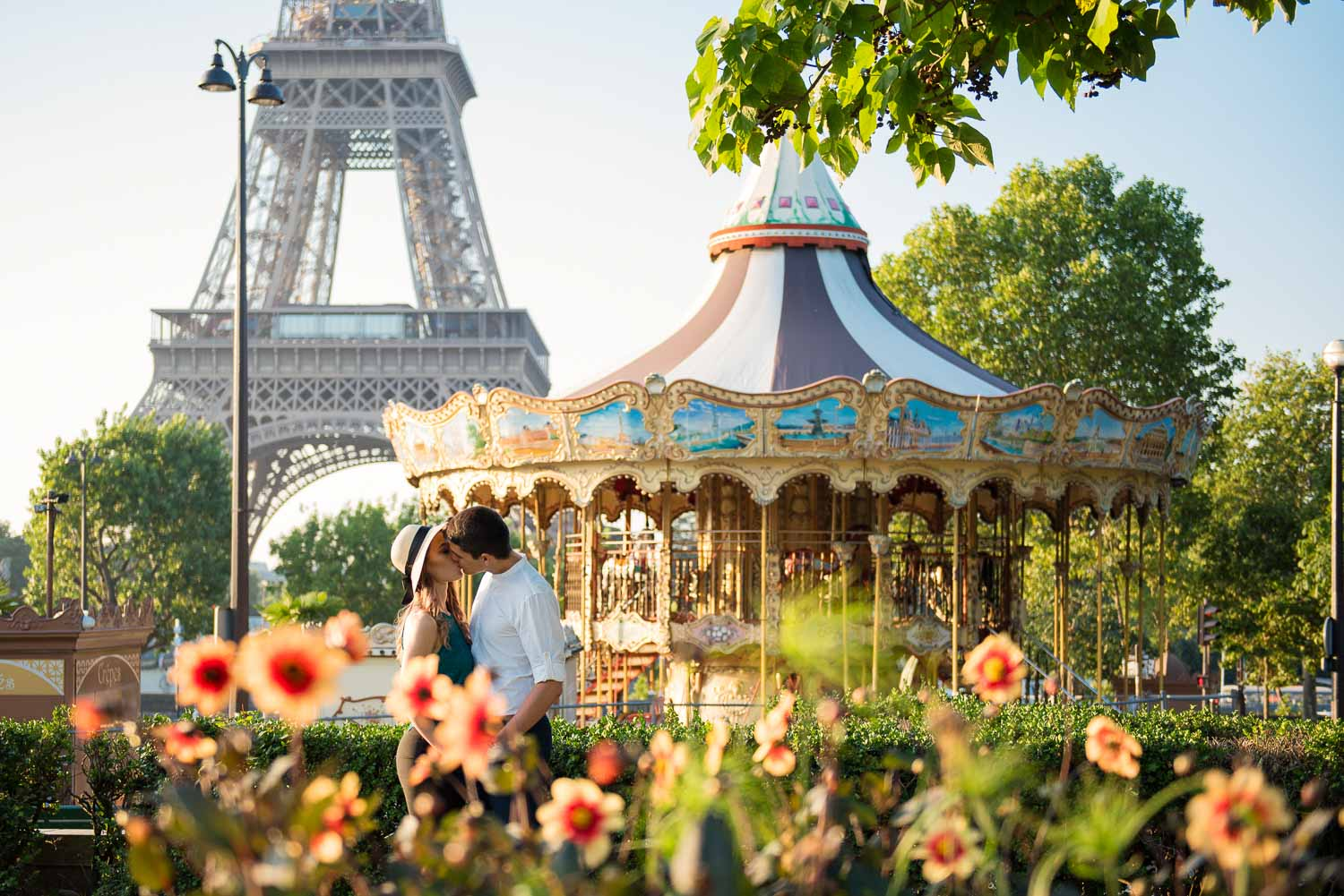Paris engagement photo session A&D 2