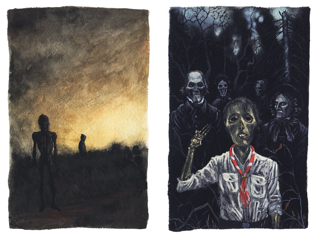 Images from Alan Brown's  I See A Shadow Coming