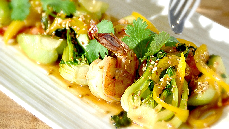Honey Shrimp Bok Choy