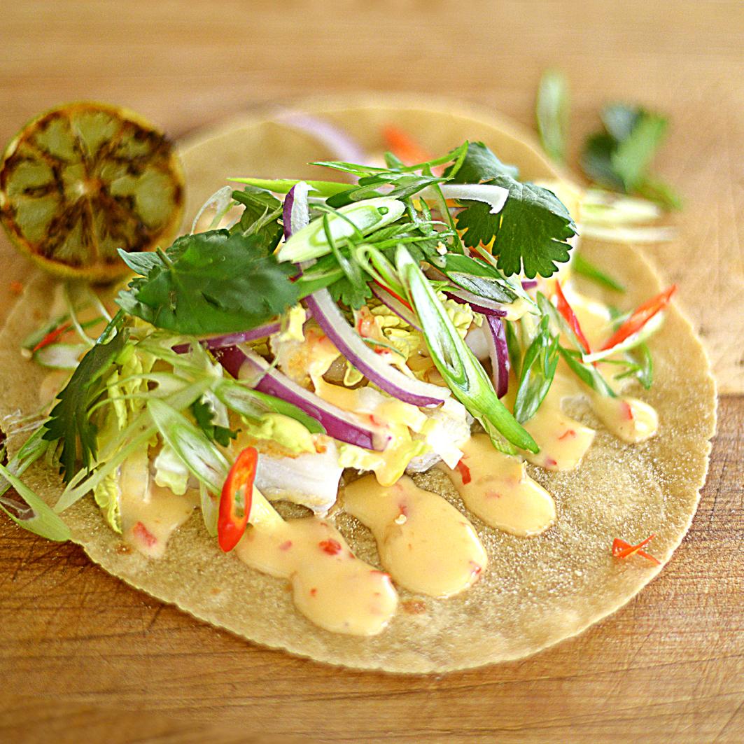 Thai-Style Fish Tacos Recipe