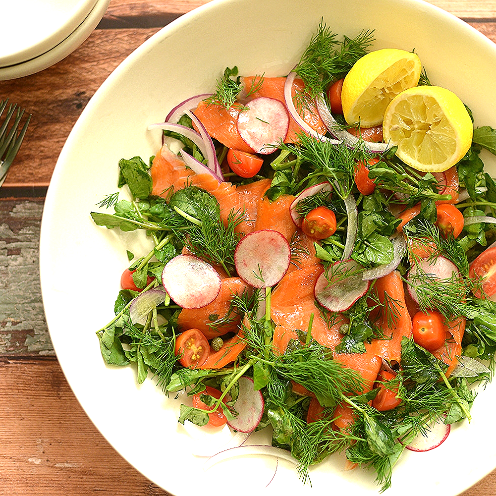 Smoked Salmon & Watercress Salad