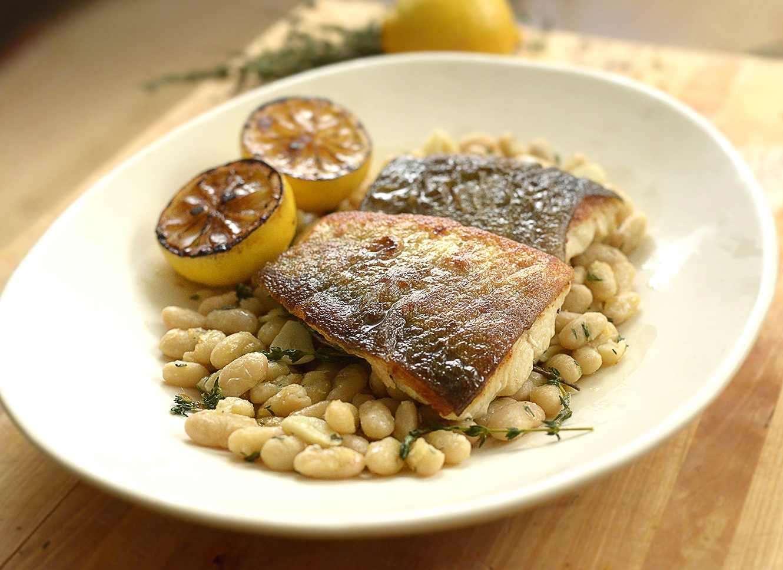 Arctic Char Recipe w White Beans & Thyme