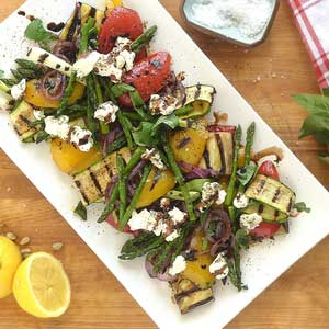 Grilled Veg W Chevre & Reduced Balsamic