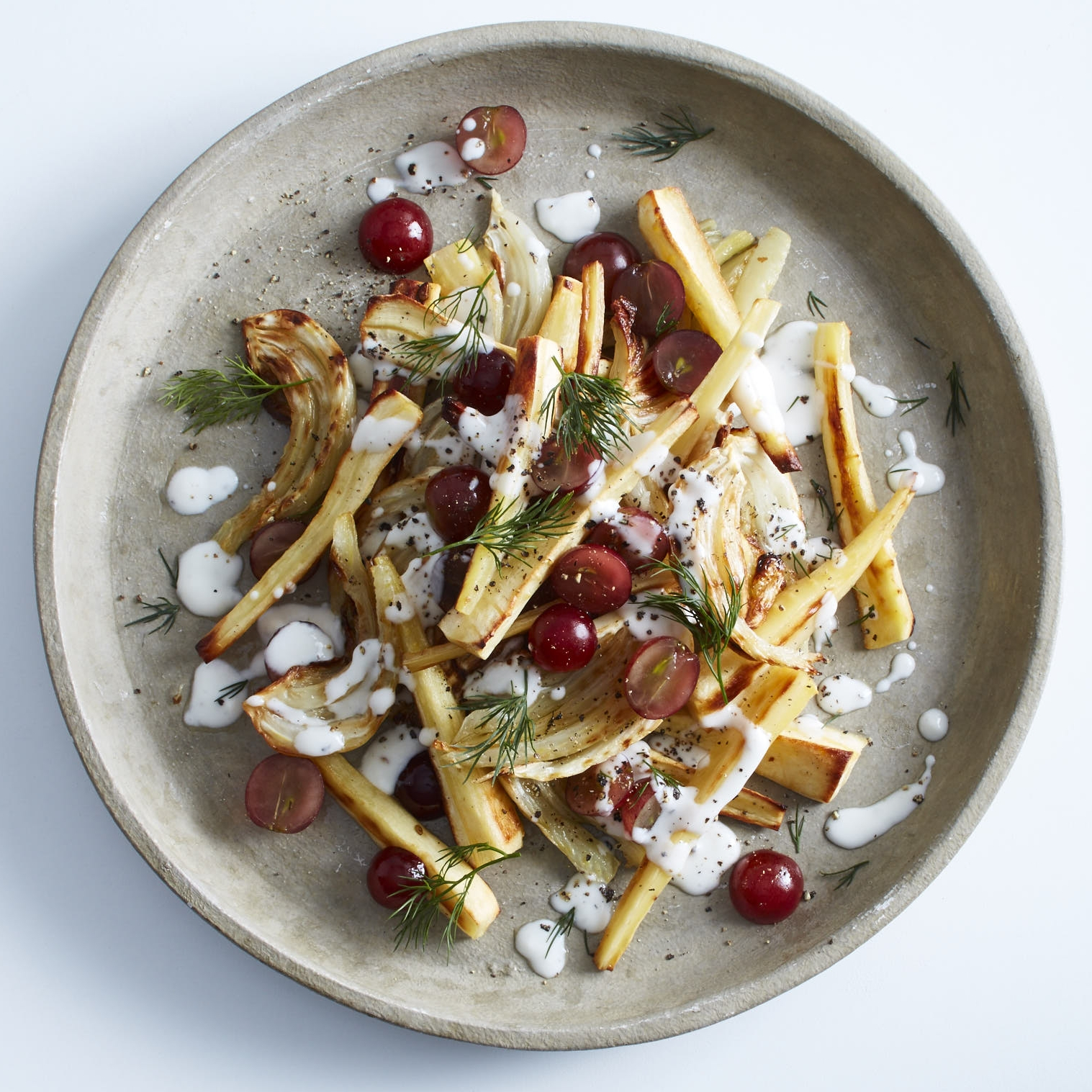 Roasted Root Veg Salad w Dill Yoghurt Dressing by Chef Mike Ward