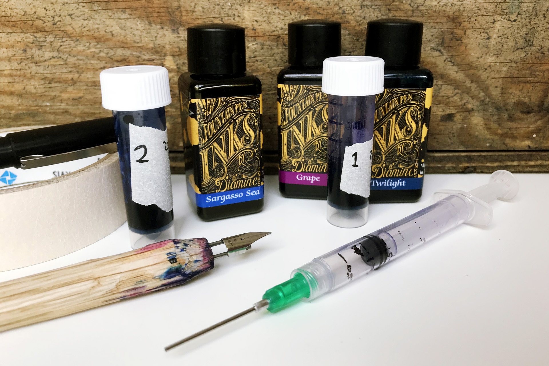 mixing fountain pen ink