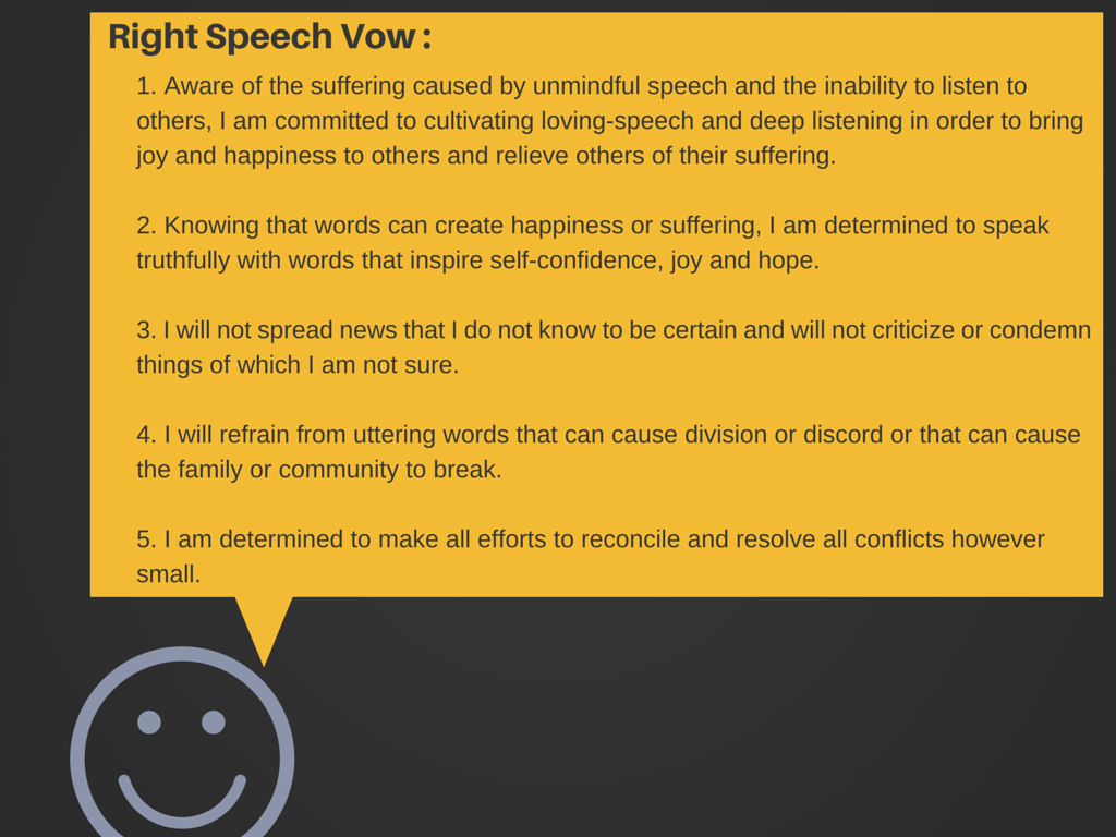 Right Speech Vow - Boondoggle