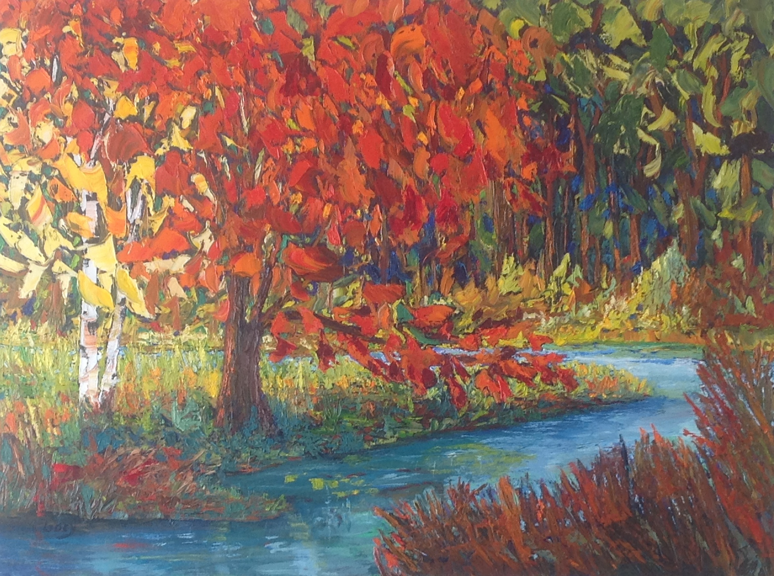 16 Mile Creek, 36 X 36, Oil on Canvas