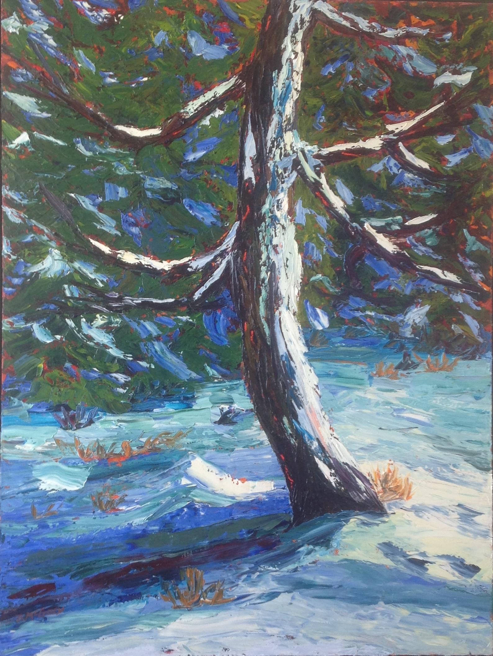 Winter Portrait, 48 X 36, Oil on Canvas