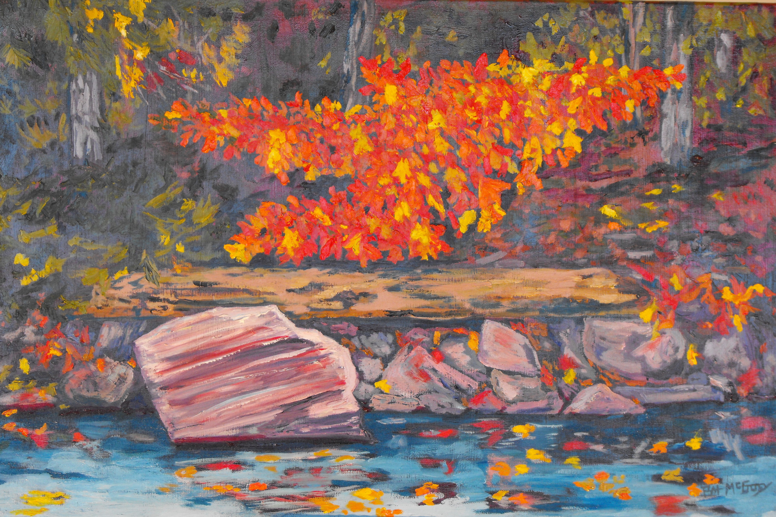 Algonquin Paddle, 24 X 36, Oil on Canvas