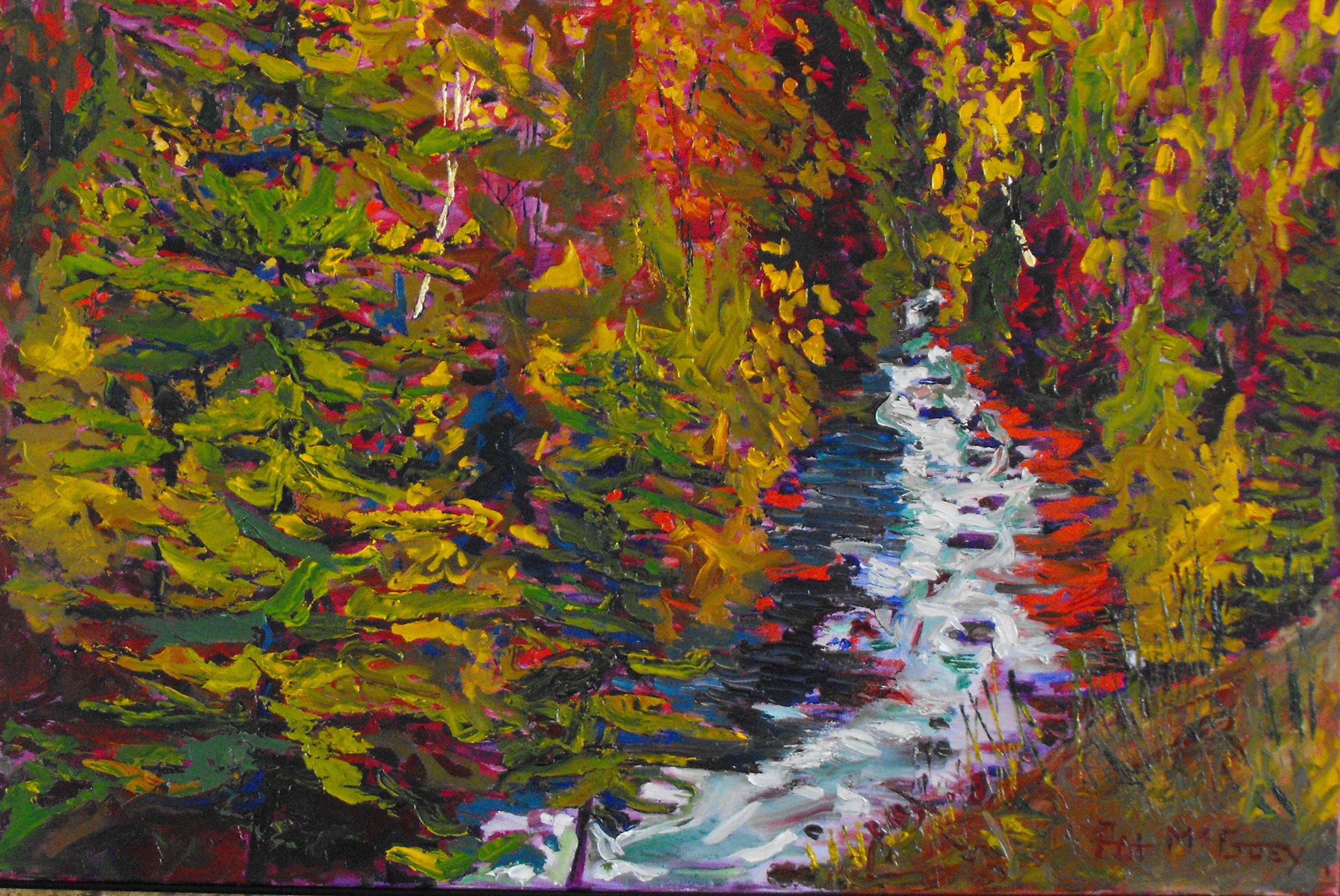 Radium Rapids, 36 X 24, Oil on Canvas