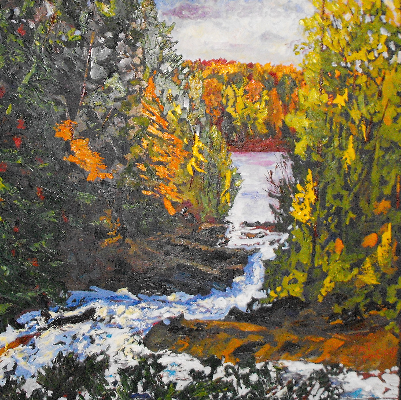 Algonquin Falls, 36 X 24, Oil on Canvas