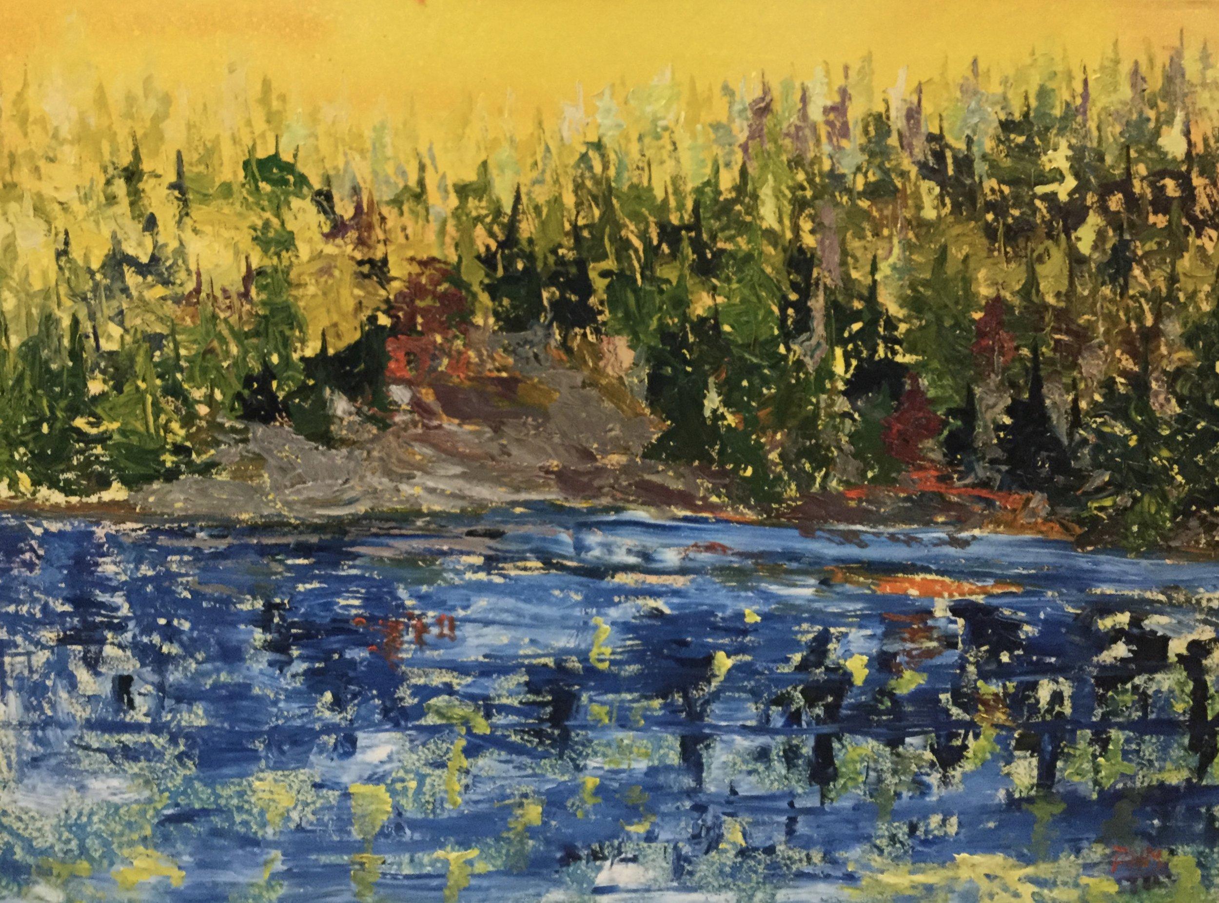 yellow Harmony, 36X48, Oil on Canvas