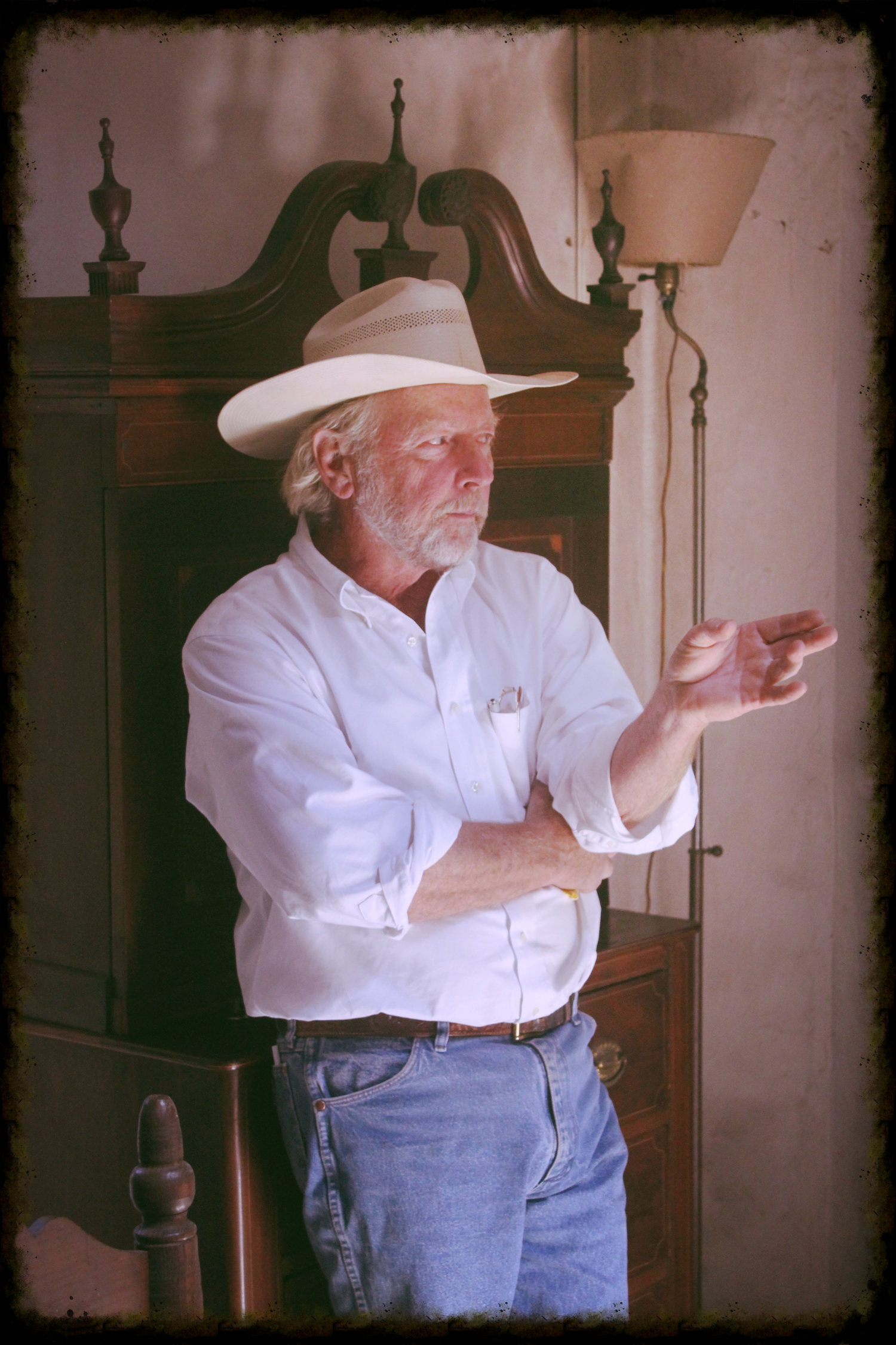 Jim Poett shares about the history of the ranch and the original adobe home.