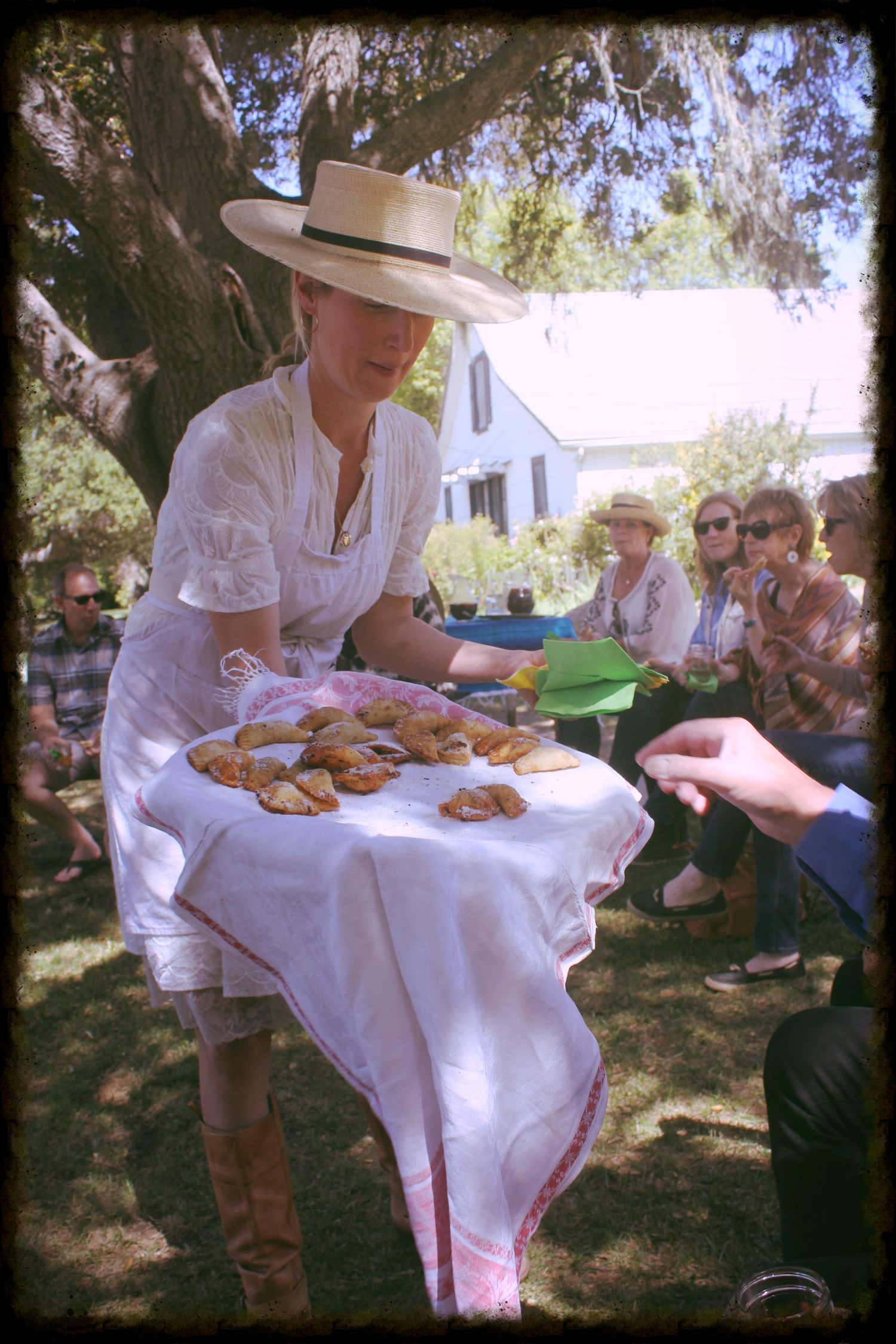 Elizabeth Poett shares homemade empanadas.