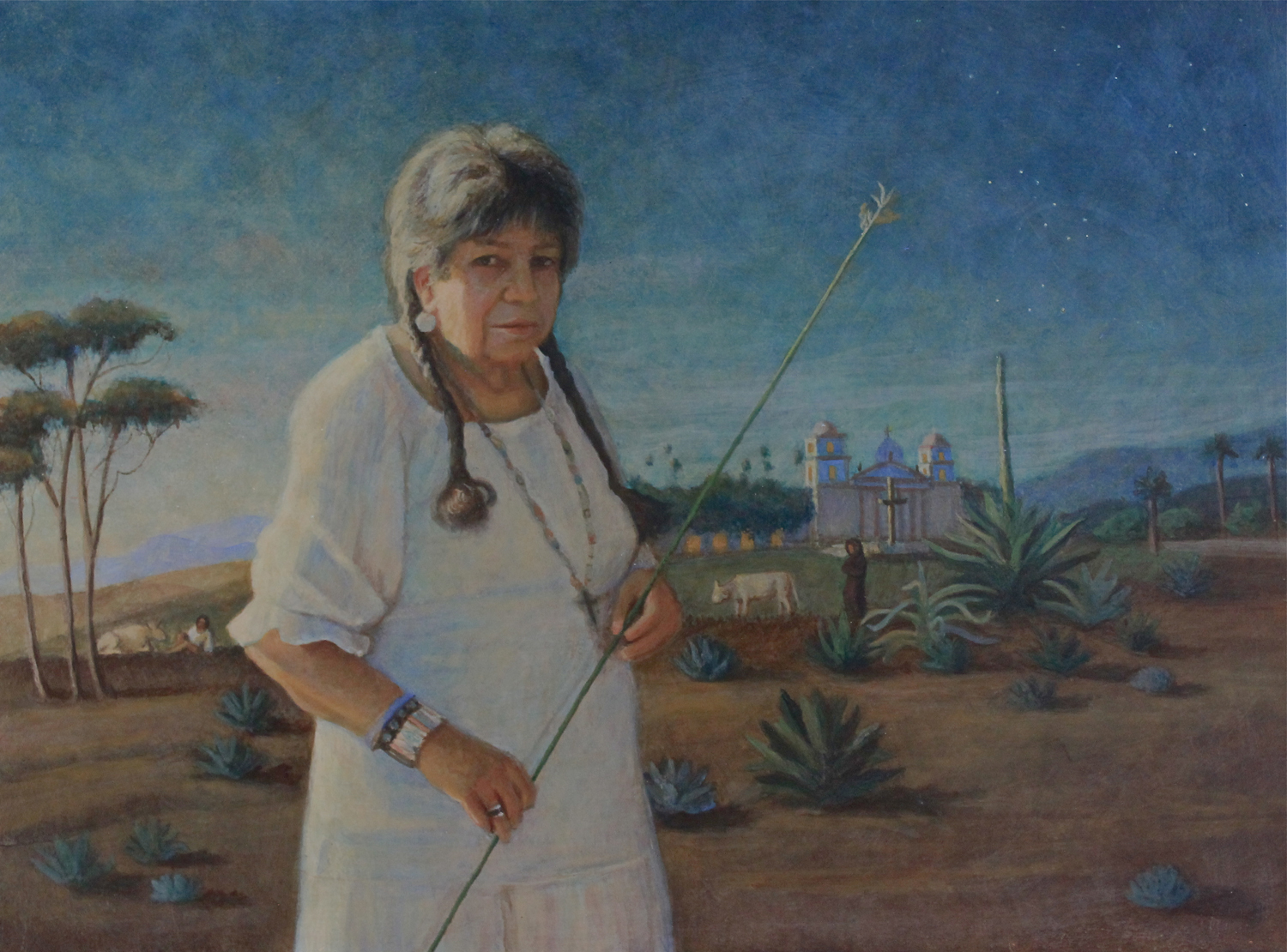 Ernestine De Soto, egg tempera, 12x16 by Holli Harmon