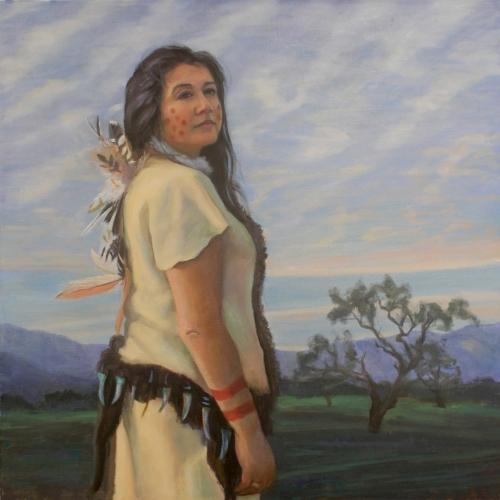 Kathleen Marshall, oil on canvas, 36x36 By Holli Harmon