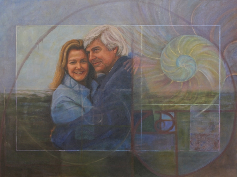 Mike and Mimi deGruy, oil on canvas 24x30, by Holli Harmon
