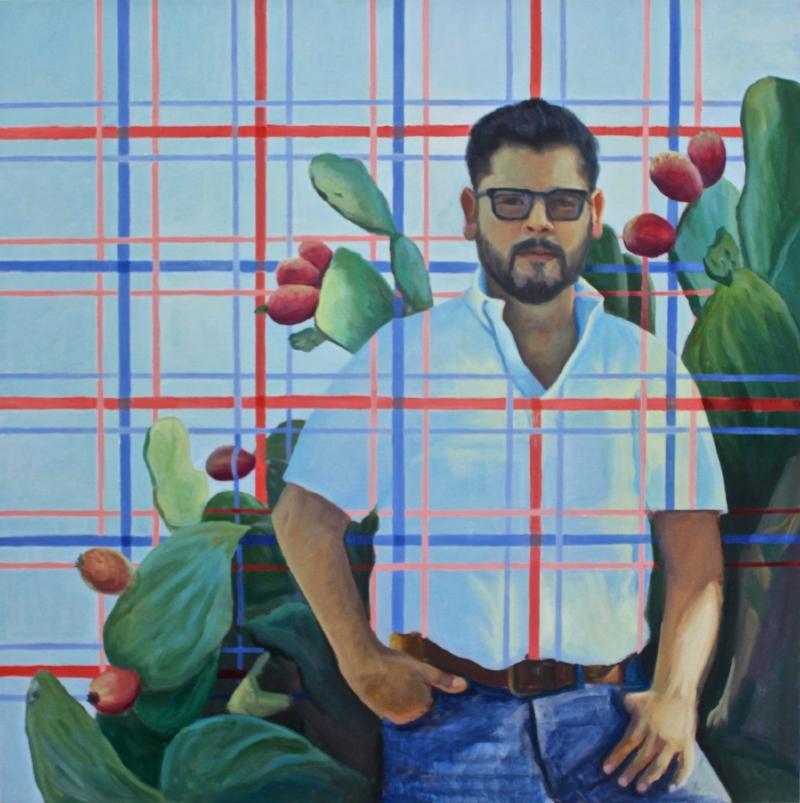Luis Ramirez, oil on canvas, 36x36, by Holli Harmon