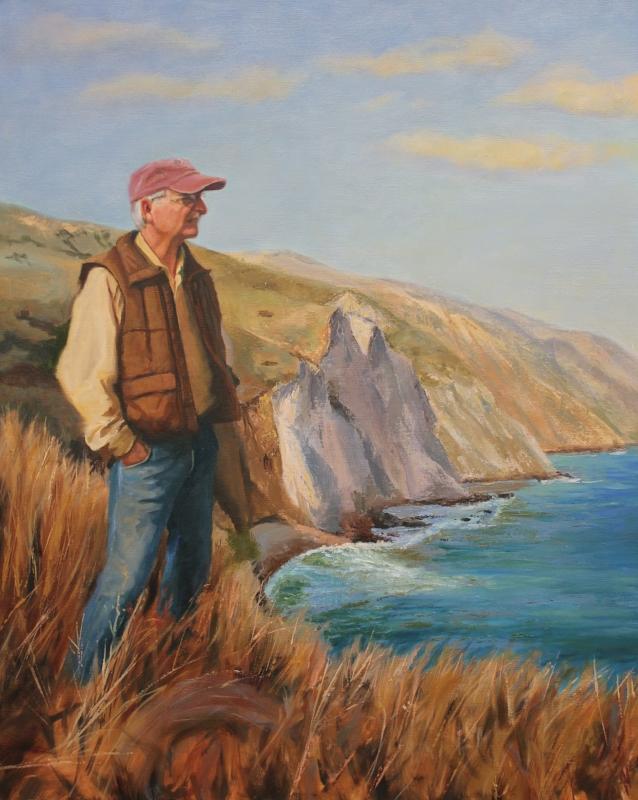 Dr. Lyndal Laughrin, oil on canvas, 24x30, by Holli Harmon