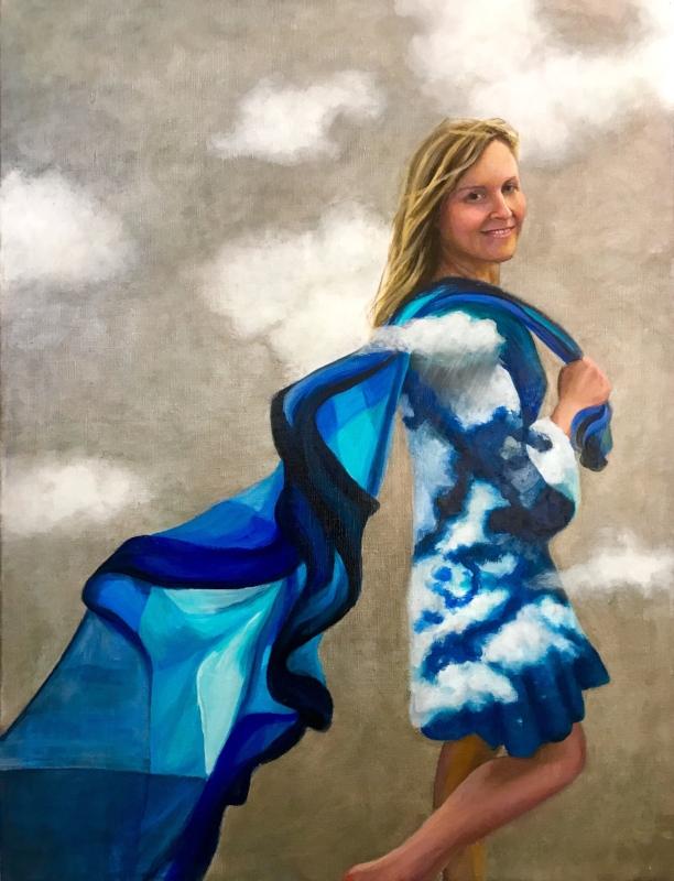 Kelley Dyer Portrait, Oil on Canvas, 26x34