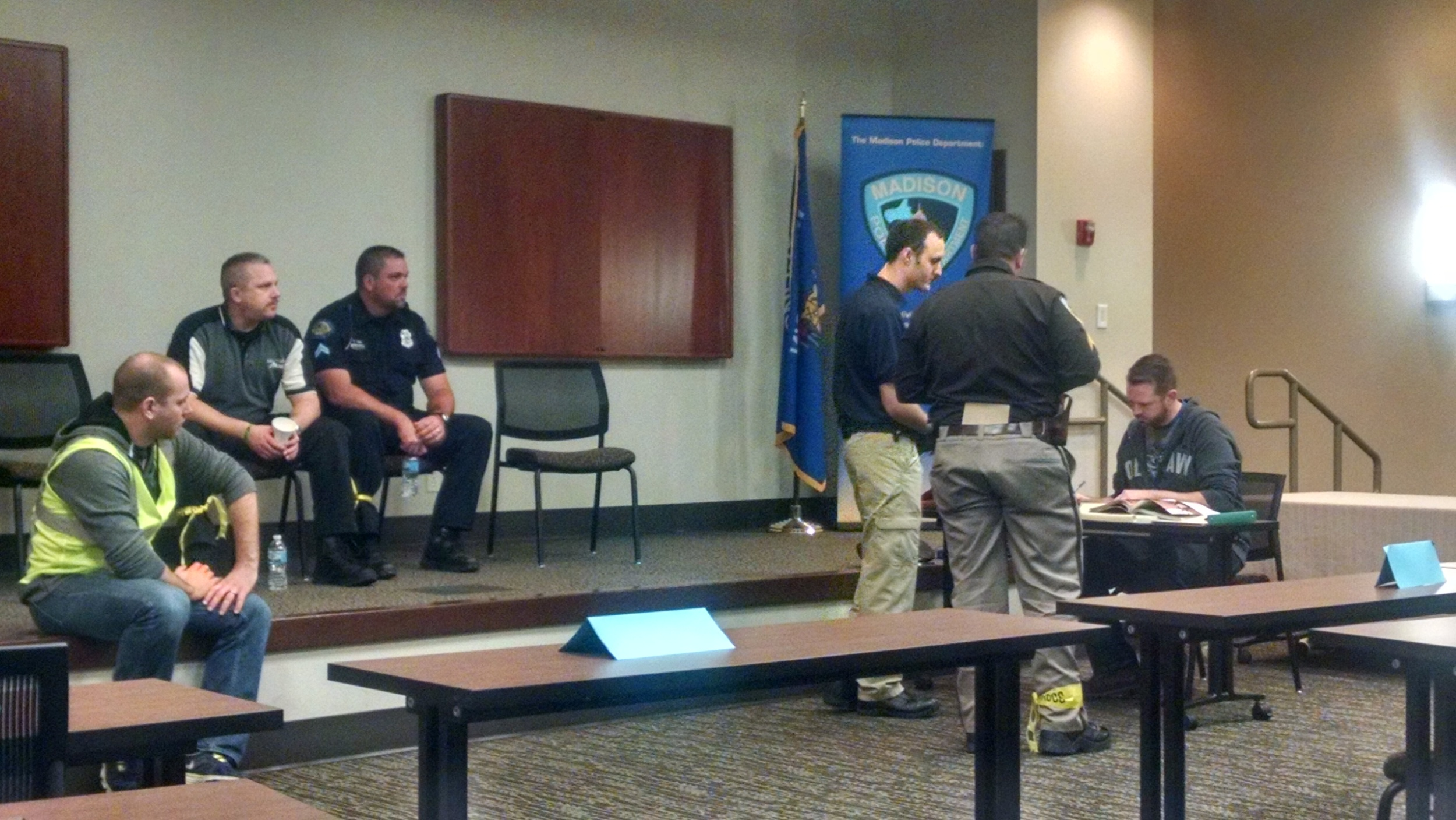 Madison Police Dept. and NAMI Dane County CIT: Role play day Dec. 2015