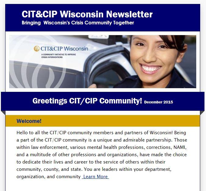 CIT&CIP Wisconsin Newsletter